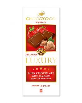 Chocoyoco luksusowa czekolada 32% mleczna z dodatkami 175g