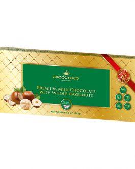 Chocoyoco premium czekolada 32% mleczna z całymi orzechami laskowymi 245g