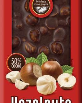 Chocoyoco czekolada 50% gorzka z całymi orzechami laskowymi 100g
