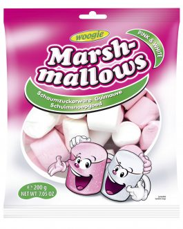 Woogie Pianki Marshmallows Pink & White 200g