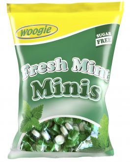 WOOGIE Pastylki Pudrowe Miętowe Mini Mint 50g bez cukru
